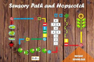 Colorful Floor Path Set / Printable floor design for Nursery School, Home, Restaurant, Hospital / Hopscotch Sensory Path / Montessori /