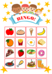 Food Bingo Game Vocabulary Practice