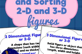 Classifying and Sorting 2 and 3 Dimensional Figures