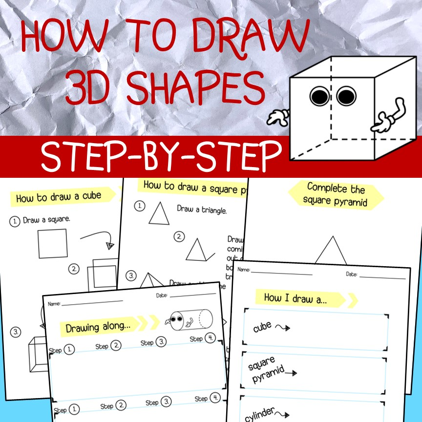 Teacherstrading Com How To Draw 3d Shapes