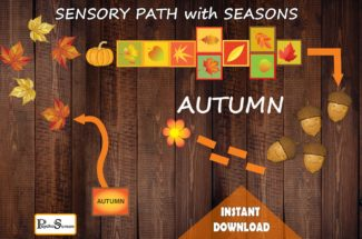 Sensory Floor Path with Seasons, 4 in 1, Winter, Spring, Summer, Autumn, Decals