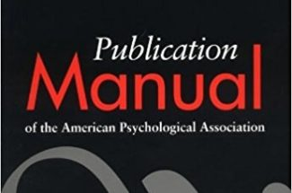 Publication Manual of the American Psychological Association Fifth Edition